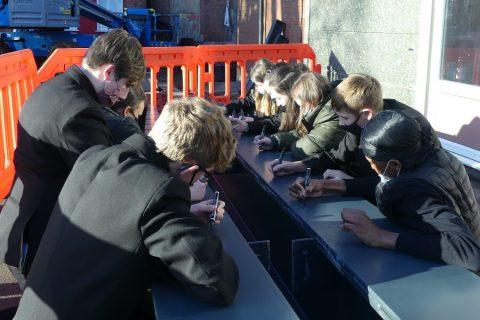 Coundon Court School steel signing ceremony Interclass